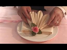 how to make fancy table napkins how to fold fancy looking napkins youtube