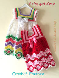 dress pattern 5 year old crochet baby dress pattern gift for baby by sandrahandmadeshop