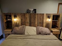 Making A Pallet Bed Diy Pallet Wood Headboard With A Secret Stolen From You Kim Wore