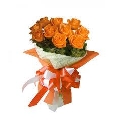 orange roses bouquet of one dozen orange roses pasay flora