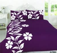 Purple Double Duvet Set Dreamzone Bedding Specialists In Duvet Sets Fitted Sheet Bath