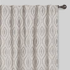 curtains drapes window treatments world market gray geo laura concealed tab top curtains set