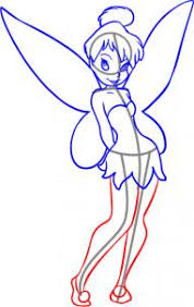 disney draw tinkerbell drawing tinkerbell