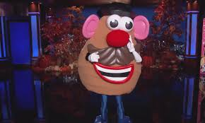 Potato Head Halloween Costume Jimmy Kimmel Live Halloween 2014 Transformed Puppet