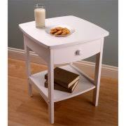 Curved Nightstand End Table Winsome Wood Curved Nightstand End Table Walmart