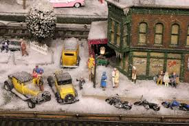christmas train sets train station best images collections hd