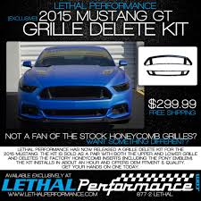 lethal mustang product 2015 mustang grille delete kit lethalperformance com
