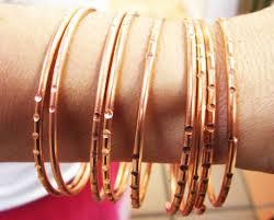 copper bangle bracelet images Oya 9 copper bracelets jpg