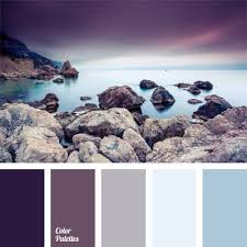 shades of the eggplant color match the pastel shades of blue very