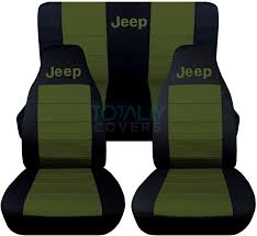 jeep wrangler back jeep wrangler yj tj jk 1987 2017 2 tone seat covers w logo front
