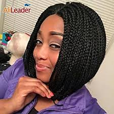 what kind hair use boxbraids amazon com alileader 8pcs 12 black box braids crochet hair
