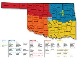 Oklahoma Counties Map Regions