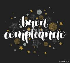 happy birthday in italian beautiful greeting card calligraphy
