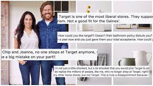 chip and joanna gaines announce target line and trolls come out of