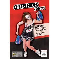 Zombie Cheerleader Black Zombie Cheerleader Costume For Halloween Morph Costumes Uk