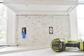 hexagon tile kitchen backsplash easy steps to install a marble hexagon tile kitchen backsplash