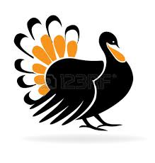 happy thanksgiving turkey symbol template icon royalty
