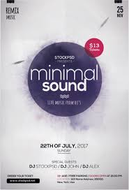 minimal sound u2013 download psd free flyer template free flyer