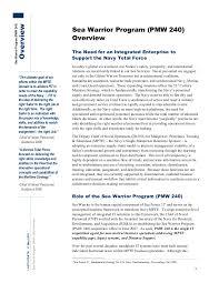 Navy Knowledge Online Help Desk Sea Warrior Program Peo Eis Pmw 240 8 Pg Overview Story