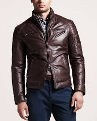 leather motorcycle clothing brunello cucinelli reversible leather motorcycle jacket in brown