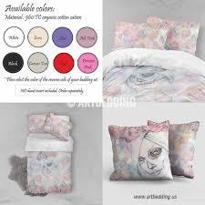 Pink Rose Duvet Cover Set Sugar Skull Roses Duvet Bedding Set Bohemian Bedding
