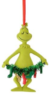 department 56 grinch stole on garland ornament