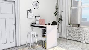 cb2 public high table desk u2022 small black white prints u2022 digital
