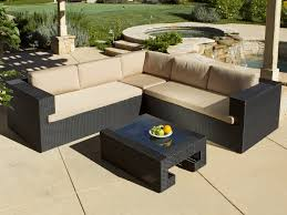 Small Patio Table by Patio 52 L Shaped Patio Furniture With Cream Cushion Patio