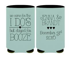custom wedding koozies what favors are right for your wedding savvy bridal
