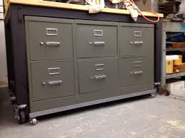 Rolling Tool Chest Work Bench Filing Cabinets Modified Into Tool Cabinet Rolling Work Bench