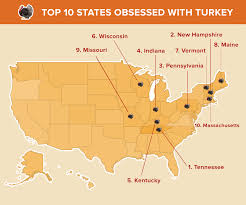 the 10 most turkey obsessed states in the us busbud