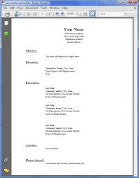 Free Pdf Resume Template Resume Sample In Pdf Cover Letter Pdf Sample Cover Letter Pdf