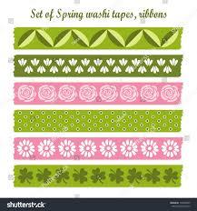 Washi Tape Designs by Set Spring Easter Vintage Washi Tapes Stock Vector 174006830