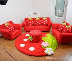 Sofa And Armchair Set 2017 Coral Velvet Children Sofa Chairs Cushion Furniture Set Cute