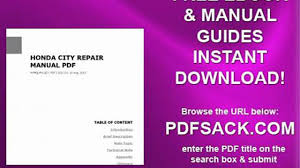 honda city repair manual pdf video dailymotion