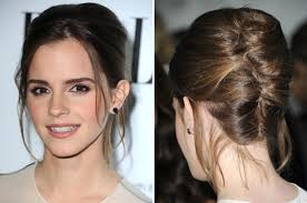 emma watson hairdos easy step by step saturday night hair how to diy emma watson s pretty updo glamour