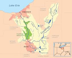 Map Of The Ohio River by File Cuyahogarivermap Png Wikimedia Commons