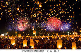 fireworks lantern floating lantern stock images royalty free images vectors