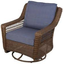 hampton bay spring haven brown all weather wicker patio swivel
