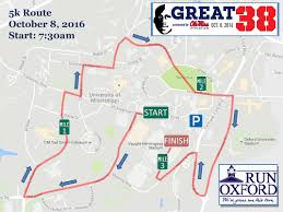 Ole Miss Campus Map Great 38 Race Weekend