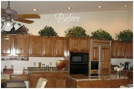 top of kitchen cabinet decorating ideas best decorating ideas for top of kitchen cabinets gallery