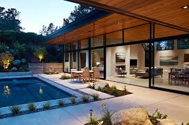 warm modern eichler inspired open indoor outdoor home on a