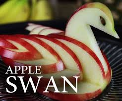 make an edible apple swan 8 steps with pictures