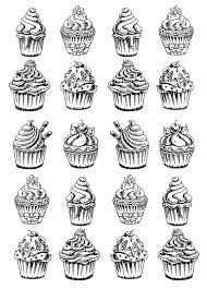 twenty good cupcakes cup cakes coloring pages adults