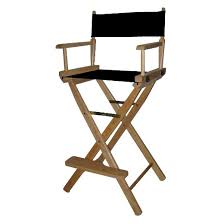 Tall Directors Chair With Side Table Bar Height Director U0027s Chair Natural Frame Target