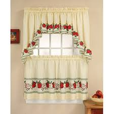 CHF & You Red Delicious Tier Curtain Panel Set