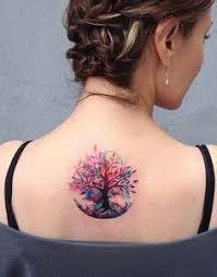 tribal tree on shoulder shoulder trees and tattoos