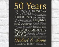 50 wedding anniversary gifts 50th anniversary gifts etsy