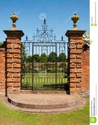 Bedroom Ideas Iron Gate Color Packwood Manor House Wrought Iron Gates Stock Photography Image