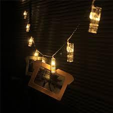 Decorative Lighting String 1 Romantic Memories Transparent Photo Clip Led String Light